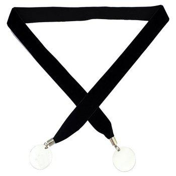 Disc Adjustable Layered Choker Necklace