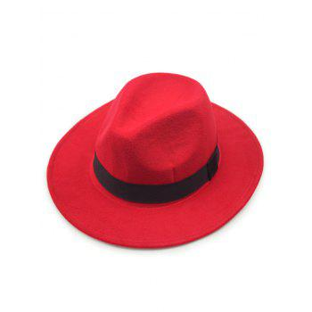 Chic Wide Brim Felt Fedora Hat