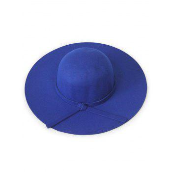Chic Solid Color Knot Felt Floppy Hat