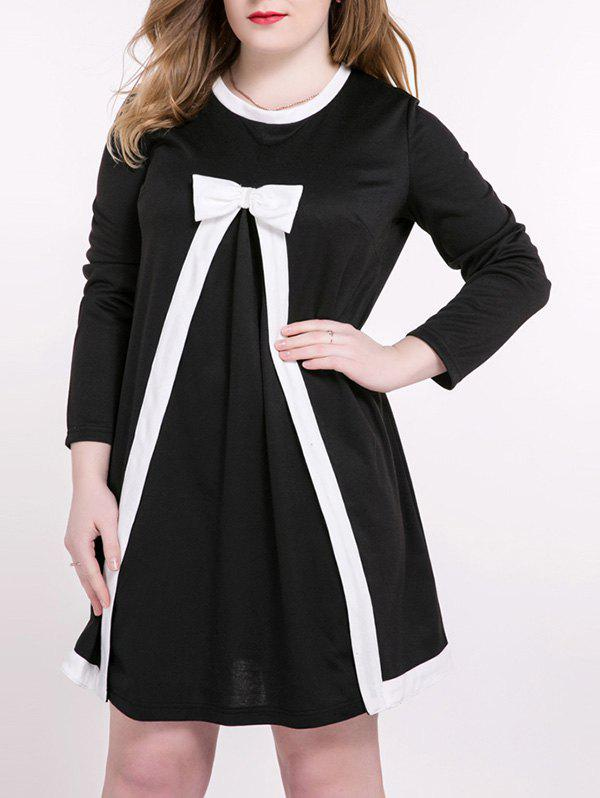 Plus Size Sweet Bowknot Embellished Princess Dress side bowknot embellished plus size sweatshirts page 2