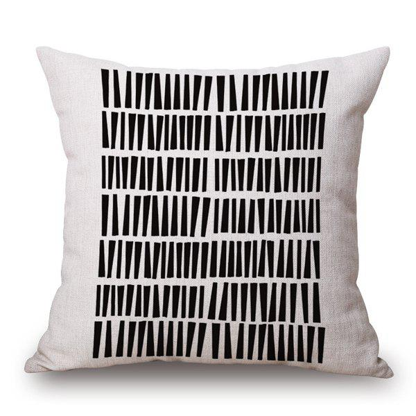 Trendy Black Trapezoid Combination Goemetry Sofa Pillow Case - WHITE/BLACK