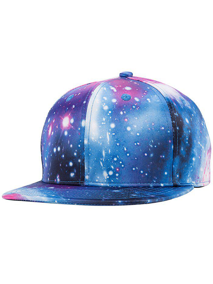 Chic Starry Sky Imprimer Snapback Hat - multicolorcolore