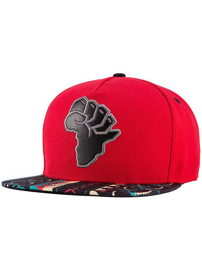 Chic African Map Split Leather Coconut Tree Print Snapback Hat