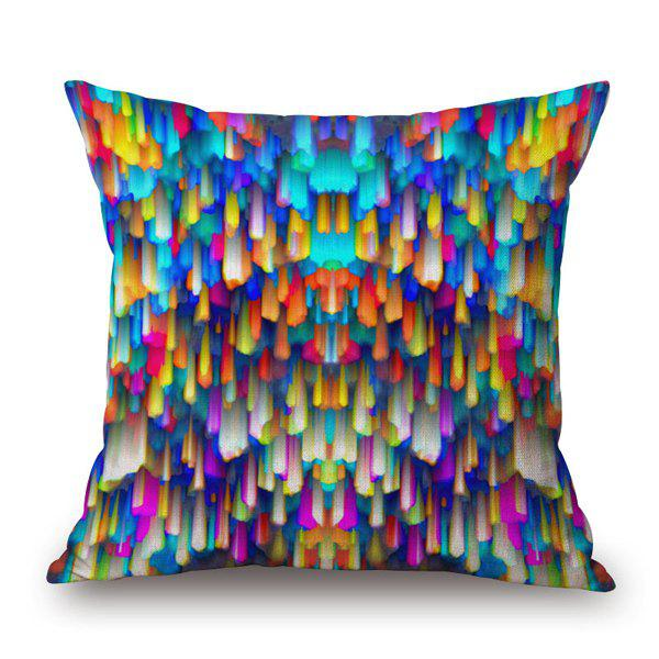 Gorgeous Colorful Dizzy Droplight Tassel Design Pillow Case