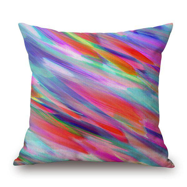 Sweet Colorful Water Painting Mixture Design Sofa Pillow Case - COLORFUL
