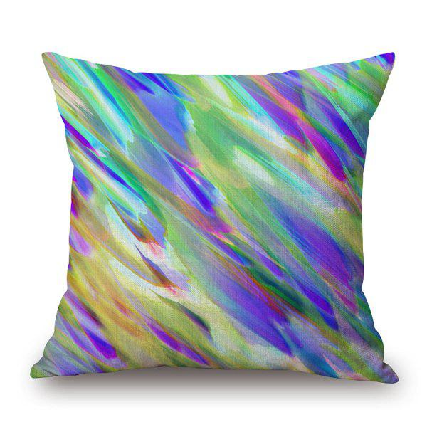 Fashional Dizzy Watercolor Painting Mixture Design Sofa Pillow Case - COLORFUL