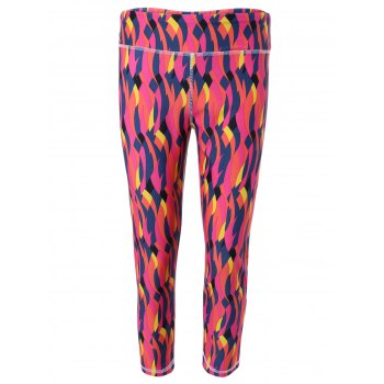 Active Style Women's Elastic Waist Colorful Quick Dry Sport Leggings