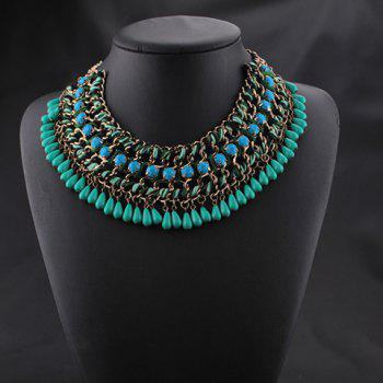Multilayered Chain Beads Necklace