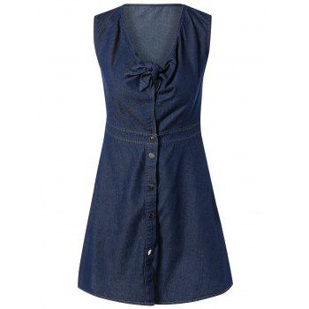 DenimV Neck Sleeveless Dress
