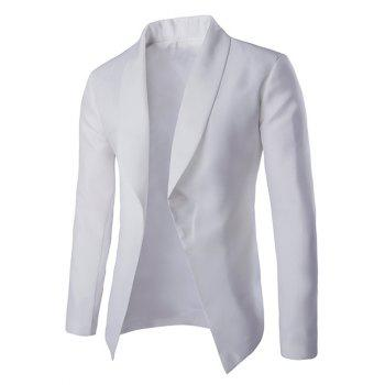 Fashionable Lapel Collar Buttonless Long Sleeves Blazer For Men