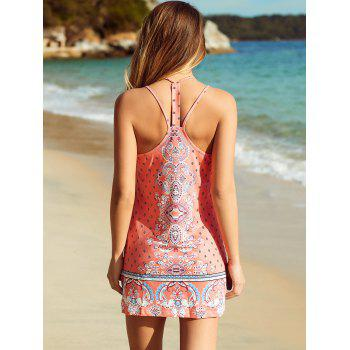 Buy Ethnic Women's Strappy Backless Floral Print Dress JACINTH
