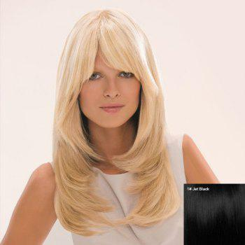 Fashion Long Side Bang Layered Tail Adduction Women's Human Hair Wig