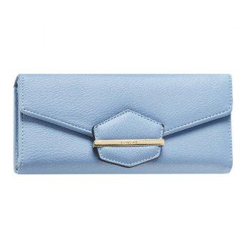 Trendy Magnetic Closure and Metal Design Women's Wallet - LIGHT BLUE LIGHT BLUE