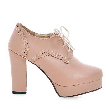 Vintage Platform and Tie Up Design Women's Pumps