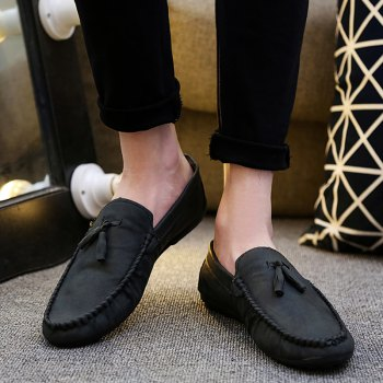 Stylish Stitching and Tassels Design Men's Casual Shoes - 42 42