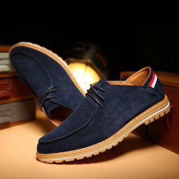 Mode rayé et cravate Up Design Men  's Souliers - Bleu profond 42