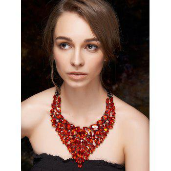 Buy Layered Faux Ruby Necklace RED