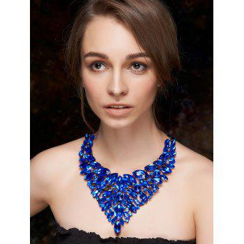 Layered Faux Sapphire Necklace
