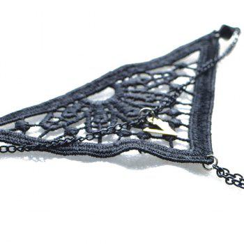 Triangle Woven V Shaped Bracelet - BLACK