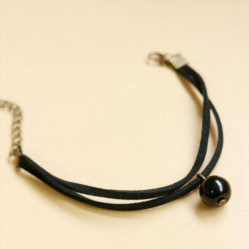 Layered Bead Rope Bracelet - BLACK