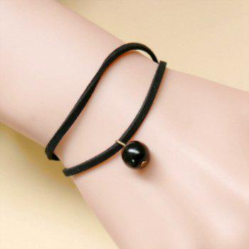 Layered Bead Rope Bracelet - BLACK BLACK