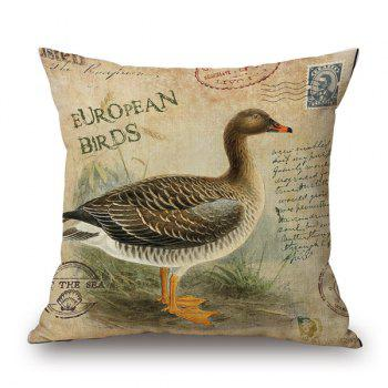 European Bird Pattern Sofa Cushion Pillow Case