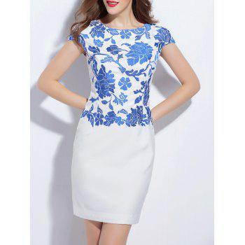 Elegant Embroidered Mini Sheath Dress