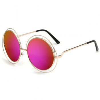 Chic Women's Hollow Out Round Mirrored Sunglasses