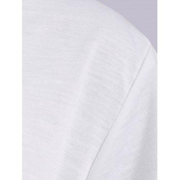 Active Scoop Neck Short Sleeve Candy Color Sport T-Shirt For Women - WHITE S