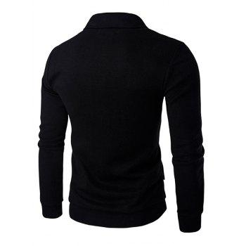 Long Sleeve Button Up Shawl Collar Cardigan, BLACK, M in Cardigans ...