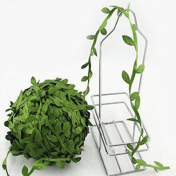 Fashional Room Decoration DIY 10 Meter Green Rattan Leaf Artificial Flower