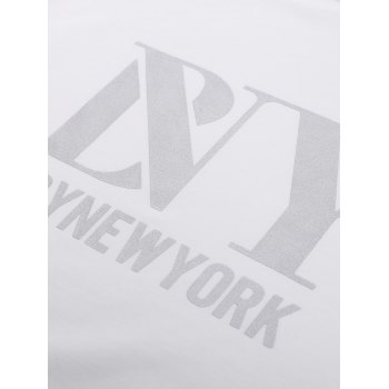 BoyNewYork Asymmetric Hem Short Sleeves T-Shirt - WHITE S
