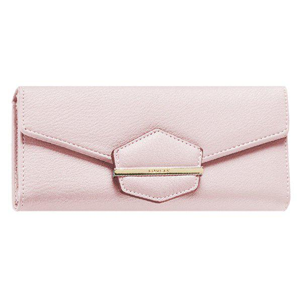 Trendy Magnetic Closure and Metal Design Women's Wallet - PINK