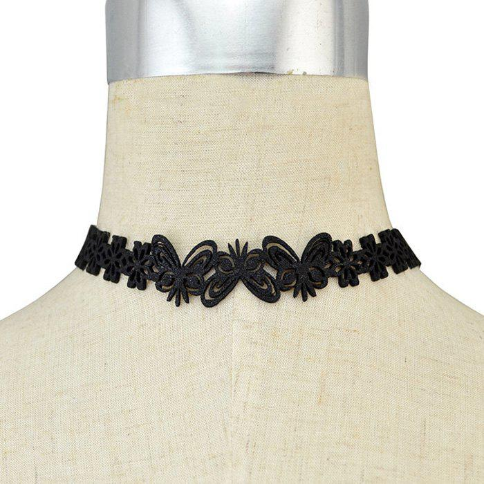 Vintage Hollowed Butterfly Flower Choker Necklace For Women