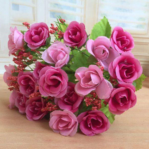 High Quality A Bouquet of Wedding Party Living Room Decor Artificial Rose - ROSE RED
