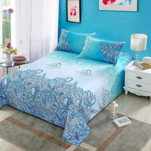 Hight Quality Gorgeous Reactive Print Duvet Cover 4PCS Bedding Set - COLORMIX FULL