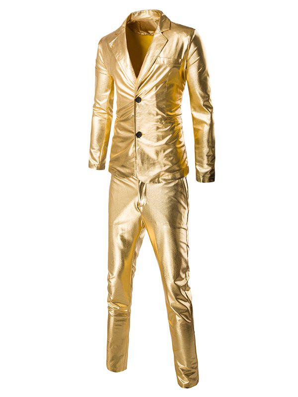 Fashion Shinny Blazer + Pants Twinset Suits For Men