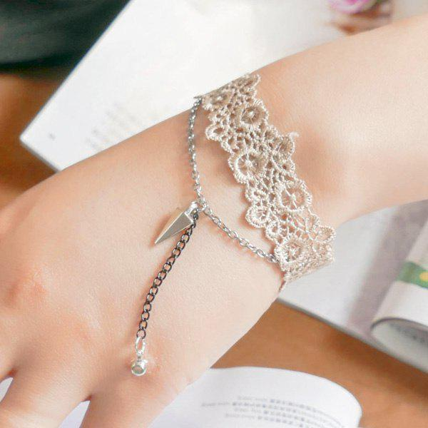 Chic Triangle Floral Hollow Out Bracelet For Women
