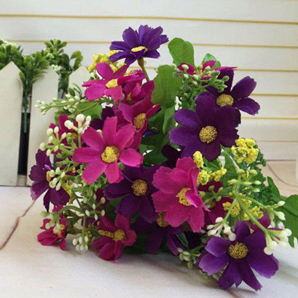 Stylish A Bouquet of Room Decoration Artificial Orchid Flower - PURPLE