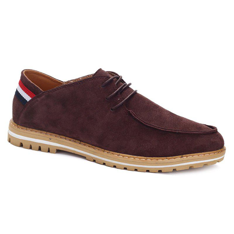 Mode rayé et cravate Up Design Men  's Souliers - BRUN 43