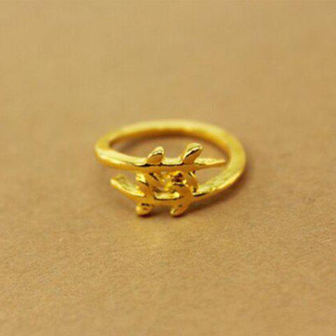 Korean Style Cute Leaf Design Rings For Female - COLOR ASSORTED