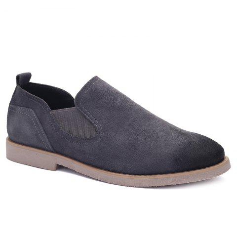Concise Suede et Elastic Band design Men  's Souliers - Gris 44