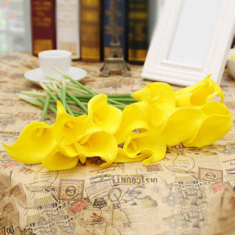 1 Pcs Pretty Home Decor Artificial Calla Flower - YELLOW