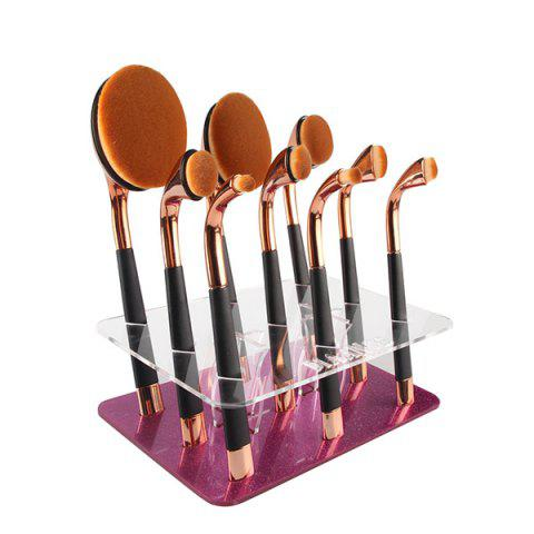 Cosmetic Detachable Square Brushtree Brush Holder Brush Display Stand - PURPLE