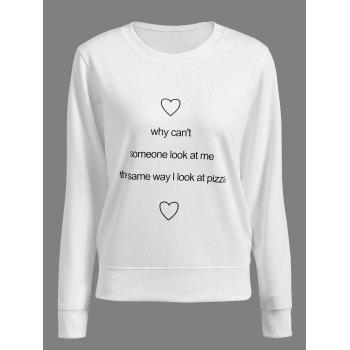 Women's Trendy Long Sleeve Heart Letter Print Sweatshirt