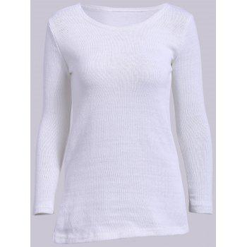 Simple Round Neck Long Sleeve Solid Color Furcal Women's Sweater
