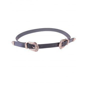 Chic Double Buckles Waist Belt