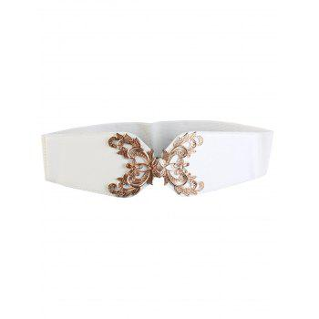 Chic Flower Carve Wide Elastic Belt