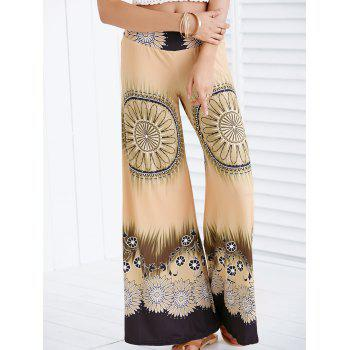 Ethnic Women'sPrinted Wide-Leg Palazzo Pants