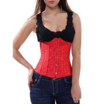 Lace Up Jacquard Women's Corset